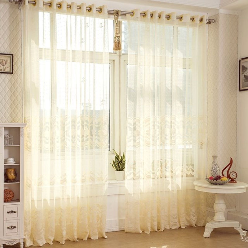 Fashion Stripe Rustic Curtain Yarn Bedroom Living Room: Finished Product Tulle Curtains Stripe Window Screening
