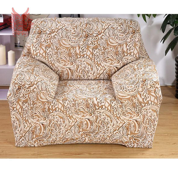 FREE SHIP  coffee/grey floral print 90--140cm length pastoral pattern living room Universal Elastic force Sofa cover SP1796
