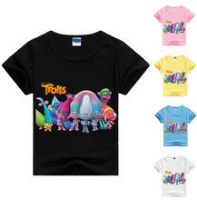 New arrivals kids t-shirt trolls clothes short sleeves tshirt boys clothes boys t shirt sweatshirt kids summer clothes MS1095(China (Mainland))