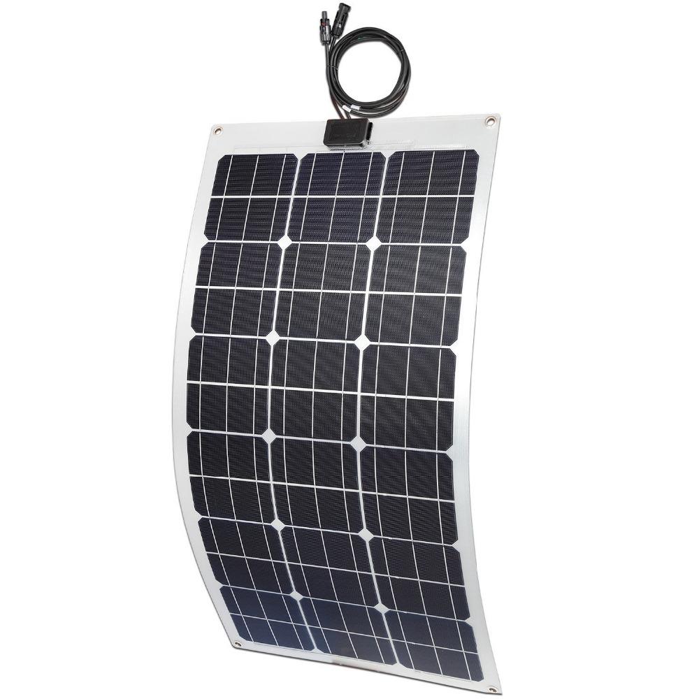 MXSOLAR Semi-flexible Solar Panel Aluminum Material 75 Watt with Long life time ETFE surface material(China (Mainland))