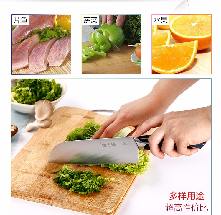 Buy 2016 Western professional stainless steel kitchen knife 4CR14 damascus meat cutter cleaver vegetable slicing chef knives facas cheap
