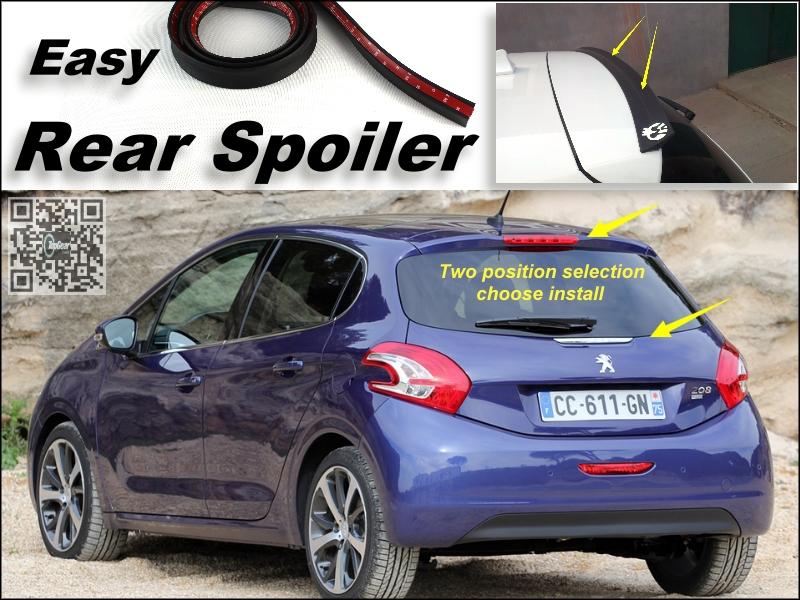Root / Rear Spoiler For Peugeot 208 307 306 308 301 Trunk Splitter / Ducatail Deflector For TG Fans Easy Tuning / Free Modeling<br><br>Aliexpress