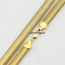 8mm Chokers Necklace For Mens Womens 18K Yellow Gold Plated Snake Herringbone Necklaces(China (Mainland))