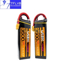 2pcs VOK Lipo battery 11.1V 3S 3500mAh 35C lithium batteries XT60 plug for rc drone Helicopter Airplane Car boat truck parts