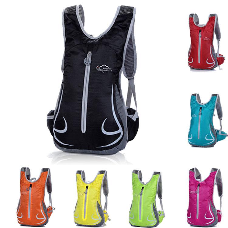 Stylish Lightweight Women Men Backpack Outdoor Riding Personalized Travel Shoulder Bag 12L Hiking Running Back Pack Bag(China (Mainland))