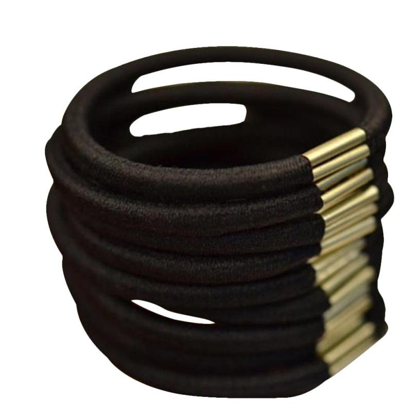 Best Deal New Good Quality Black Elastic Hair Band Rope Scrunchie Ponytail Holder Girls Headdress Ropes Gift 50PC - Voberry Technology Co.,Ltd store
