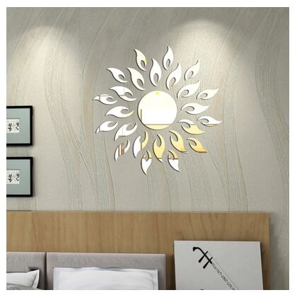 Free shipping living room sofa bedroom wall stickers DIY new home decorative mirror mirror wall stickers sunflower stickers(China (Mainland))