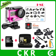 HD 4K WIFI Sport Action Camera EKEN H8R H8 2.4G Remote Control Dual Screen Waterproof  Cam Camcorder+32GB+Bag+Go  Pro accessory