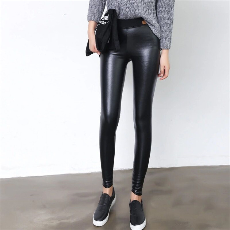 Leather pants female plus velvet skinny pants pencil pants high waist legging trousers tight sexy thinОдежда и ак�е��уары<br><br><br>Aliexpress