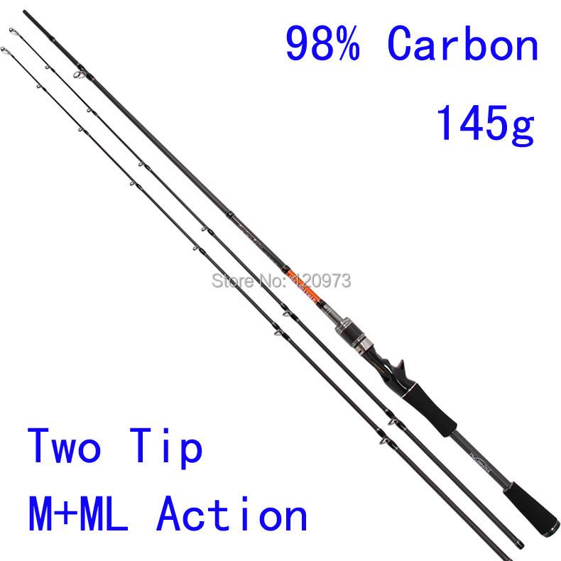 Trolinoya brand casting rod double two tips m ml for Best fishing pole brands