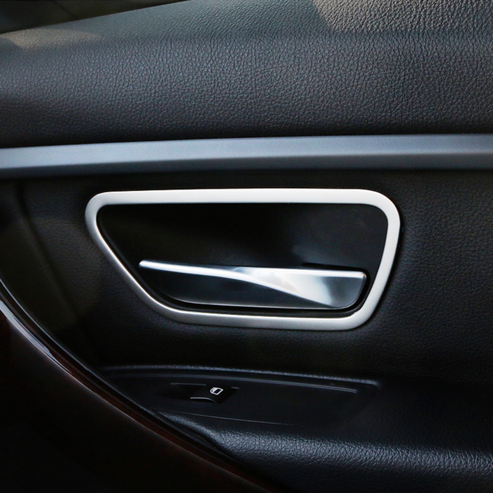 Stainless Steel Interior Door Handle Frame Cover Trim Car Accessories For Bmw 3 Series F30 F34