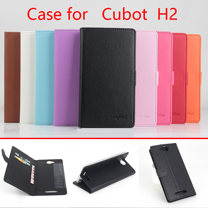Cubot H2 Litchi case cover High Quality Pu Leather Case + hard Back cover For Cubot H2 H 2 Cellphone Phone Case(China (Mainland))