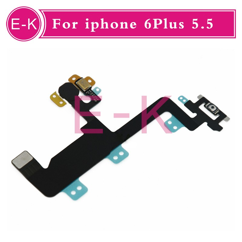 DHL100pcs/lot New for iPhone 6 plus 5.5 inch Switch On Off Power Button Control Sensor Flex Cable Replacement parts