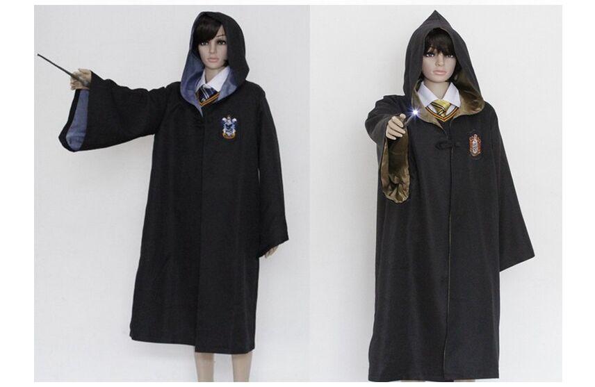 Enfants halloween robe up Harry Potter Robe Gryffondor Cosplay Costume Adulte Harry potter Robe cape Magic Academy partie robe cravate(China (Mainland))