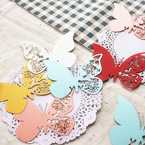 96pcs Butterfly Laser Cut Paper Place Card / Escort Card / Cup Card/ Wine Glass Card For Wedding Decoration Wedding Favors(China (Mainland))