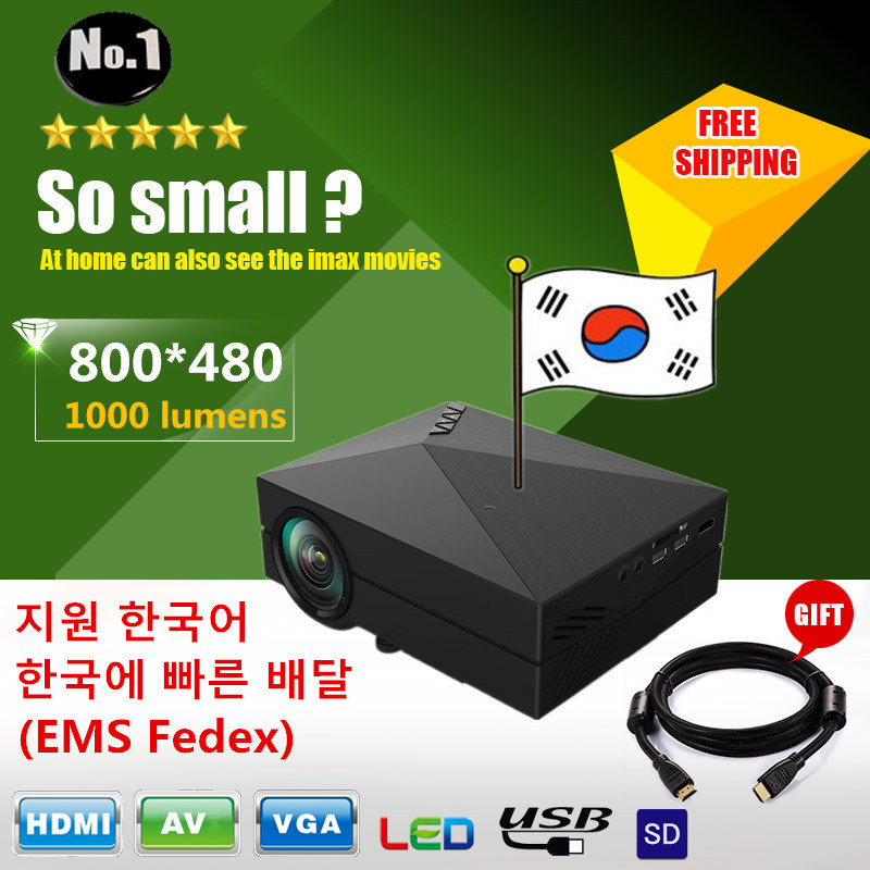 WHOLESALE 2015 NEWEST GM60 MINI LED  Portable Projector For Video Games TV Movie SD FULL HD Home AND OUTDOOR Theater FREE GIFT(China (Mainland))