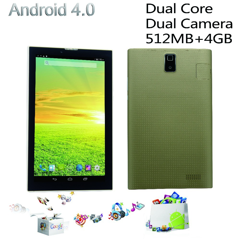 7 inch phone call tablet pc MTK Cpu dual core dual camera nice design 2g 3g