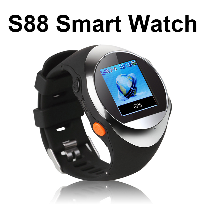 PG88 GPS watch tracker,GPS positio mobile phone the old man/children Anti-lost device outdoor GPS smart band smart watch android(China (Mainland))