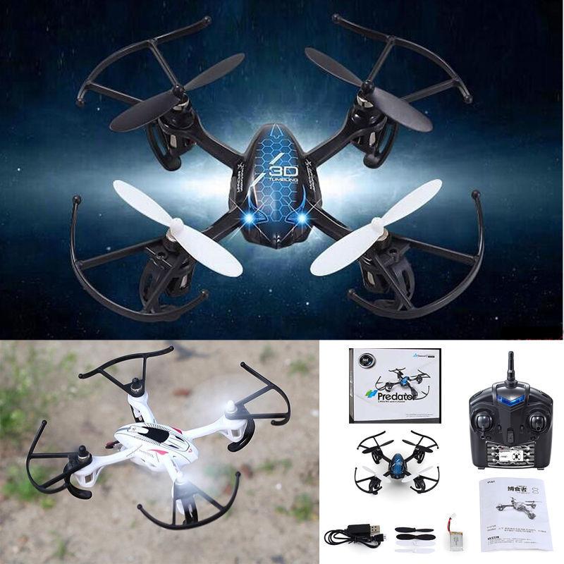 Good Quality !! mini 3D Predator 2.4Ghz 4CH Remote Control RC 6Axis Gyro Mini Quadcopter UFO Blue(China (Mainland))