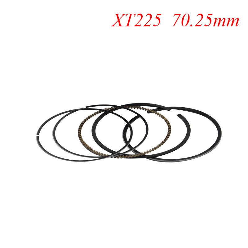 Motorcycle Piston Rings Set For Yamaha XT225 XT 225 (+25) 0.25mm Oversize Bore Size 70.25mm NEW(China (Mainland))
