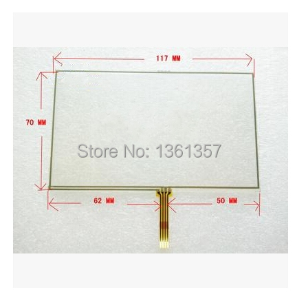 Small five inches Teclas E road navigation MP45 LH980N GPS touch screen welding 117 * 70(China (Mainland))
