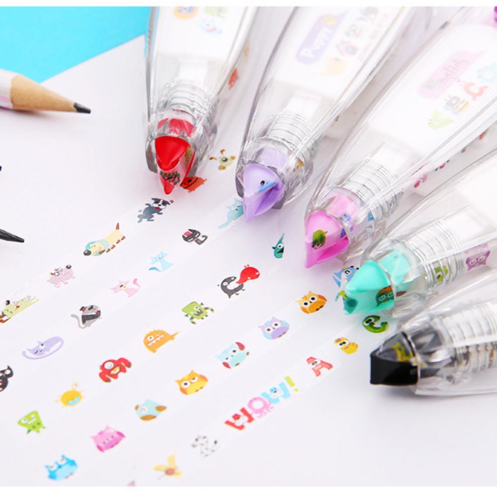 5PCS Creative Stationery Push Correction Tape Lace Key Tag Sign School Supplies(China (Mainland))
