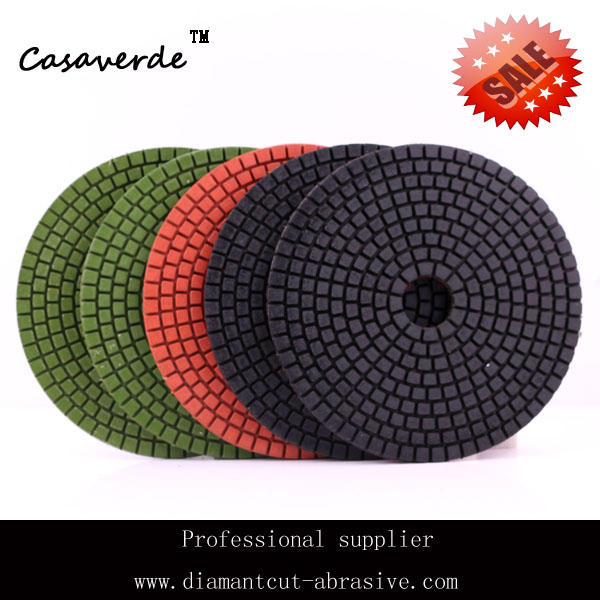 """Free Shipping standard 5""""(125mm) with 2.5mm flexible 5 inch polishing pads for granite and marble(China (Mainland))"""