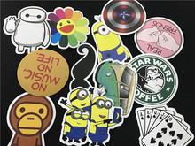 50 pcs Mixed Emoji Stickers For Children Anime Cartoon Stickers In Notebook Wall Car Sticker Skateboard FF-BQB3