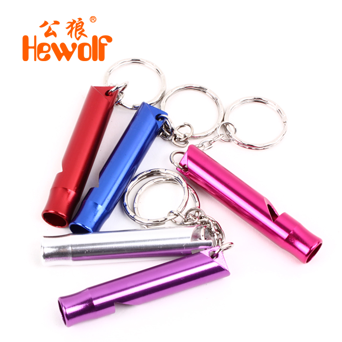 Outdoor Camping Survival Whistle Aluminum Alloy 47x8mm Suit for Adventure Mountaineering Color Send Random(China (Mainland))