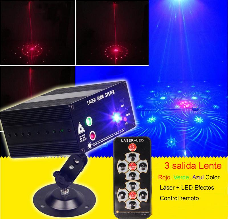 Купить 3 Salida нуэво 48 Gobos efectos дискотека лус лазерная рохо верде Azul Luces лазеры iluminacion dj efectos пункт праздники y eventos