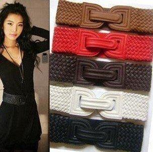 New Arrivals fashion ladies' belt,Weave elastic waistband,waist belt 12pcs/lot+free gifts