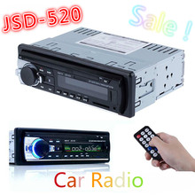 Hot Car Radio Stereo Auto Audio In-dash Single Din FM Receiver 12V Bluetooth Aux-In Input Receiver USB MP3 MMC WMA Radio Player(China (Mainland))