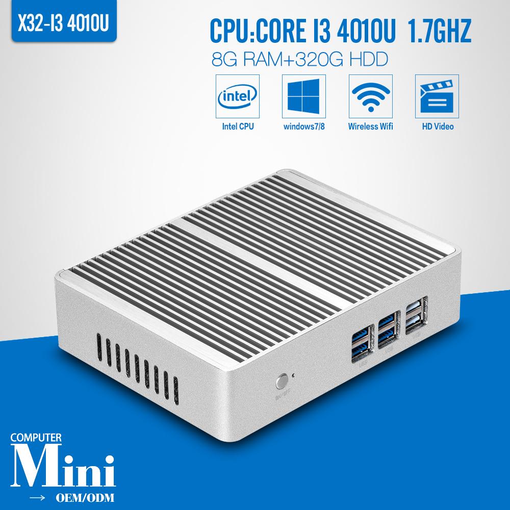 Mini PC Core I3 4010U 8G RAM 320G HDD Thin Client Thin Terminal Thin PC Mini Desktop Computer Support Win 7 XP System(China (Mainland))