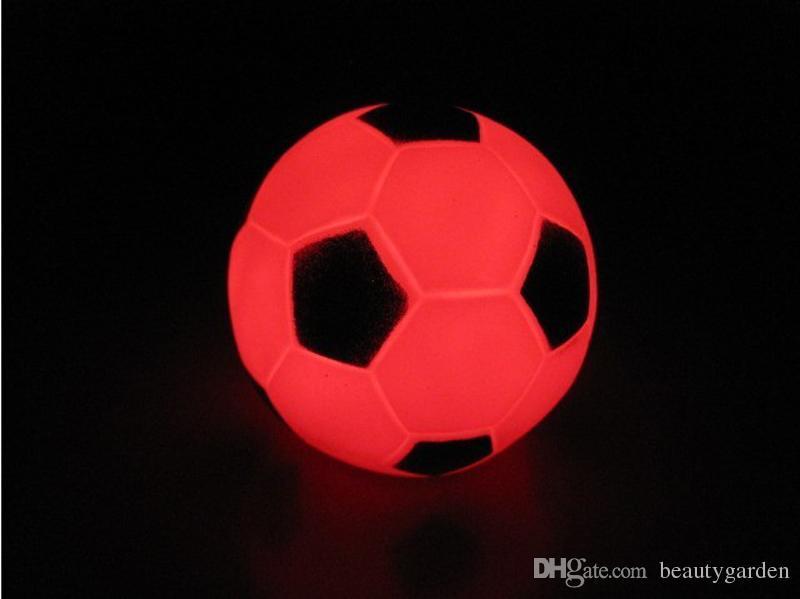 12pcs/lot Mini Football Night Light Electronic LED Soccer Lamp Party Illumination Decoration L306(China (Mainland))