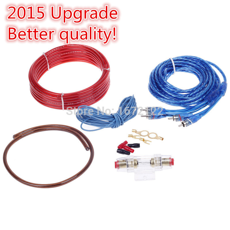 Genuine special Upgrade 12V 1200W 5M Universal Car Amplifier Audio Installation Wires Cables Kit High power Car AMP(China (Mainland))