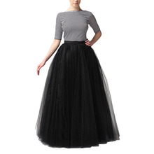 3Colors Long Tulle Skirts Straight Skirts Ladies Elegant Casual High Waist Pleated Skirt Solid Mesh Ball Gown Skirt(China (Mainland))