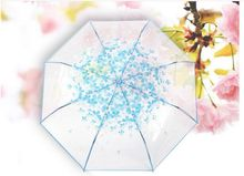 Buy 8k 3 fold sun rain umbrellas high rain tools woman flowers transparent umbrella female for $10.88 in AliExpress store