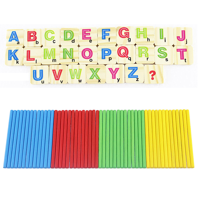 Free Shipping Children Wooden Numbers Mathematics Early Learning Counting Educational Toy K5BO(China (Mainland))