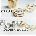 3 Pcs Punk Gold Silver Rings Female Anillos Stack Plain Band Midi Mid Finger Knuckle Rings