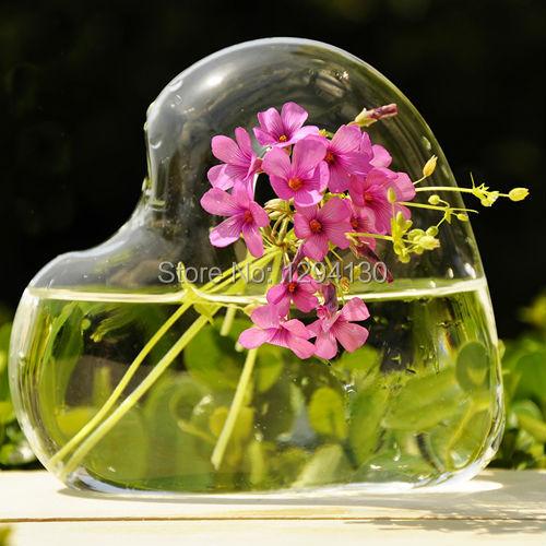 Free Shipping! Artistic Heart Shaped Glass Vase(China (Mainland))