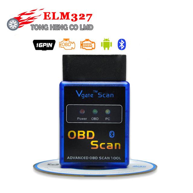 Works On Android Torque v2.1 2012 elm327 mini bluetooth ELM 327 Interface OBD2 / OBD II Auto Car Diagnostic Scanner OBDII