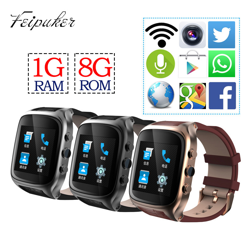 Ourtime X01S Android Smartwatch Phone Bluetooth Smart Watch 1.3GHz Dual Core IP67 GPS Watch Cam 1G 8G Heart Rate 600mAh 3G WiFi(China (Mainland))