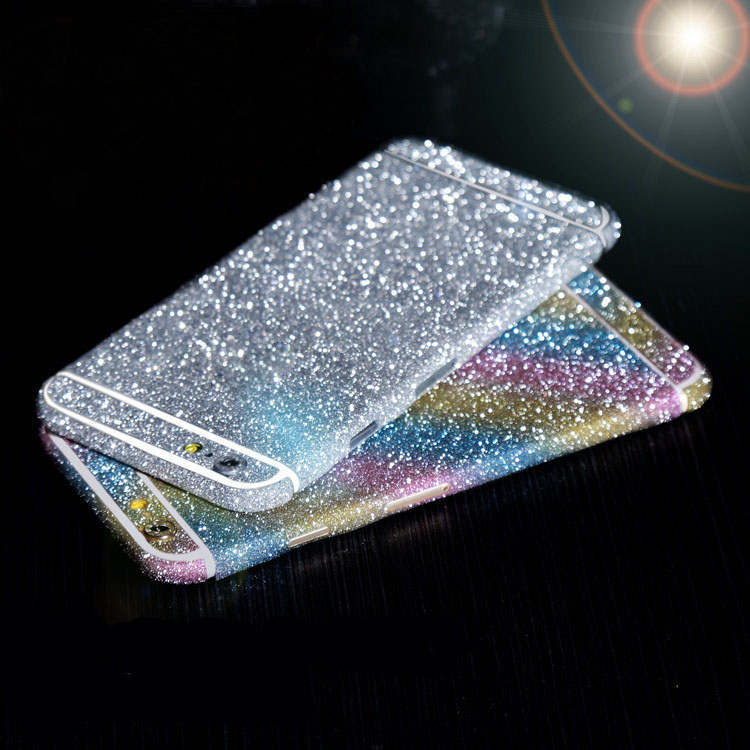 Luxury leopard glitter foil sticker body scrub color film Star flash mobile phone protective film For iphone 6 6S phone case(China (Mainland))