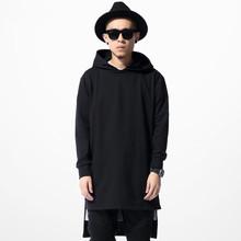 Europe streetwear Hip hop tyga men's fashion clothing Irregular length casual hoodies sweatshirt black outerwear(China (Mainland))