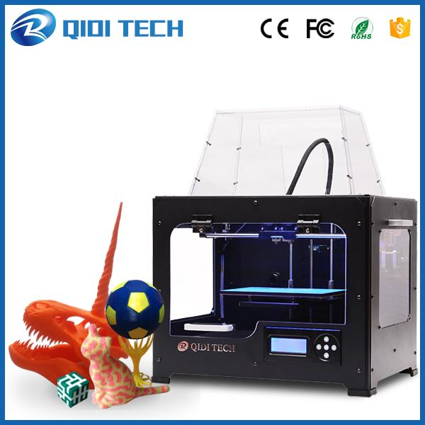 2016 Последним Высокое Качество QIDI TECH Двойной экструдер 3D Принтер с обновленной версии 7.8 материнская плата W/2 бесплатно ABS PLA нити