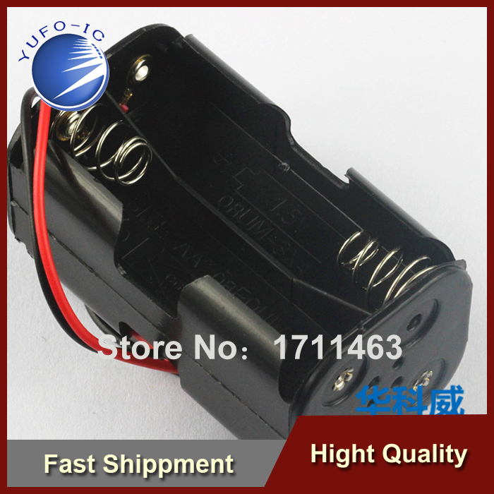 Free Shipping 20PCS Battery compartment (positive and negative 2 5) can be installed four AA 4 AA batteries YF0918(China (Mainland))