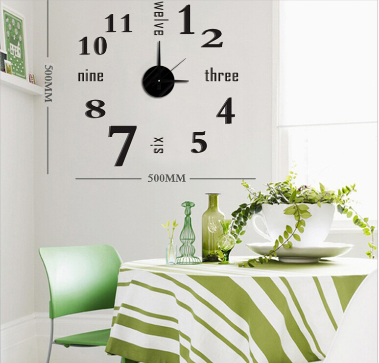 2015 New Home Decoration Kitchen Room Wall Clock Modern Design EVA 3D DIY Big Digital Stickers Watche Decor - JC & Garden store