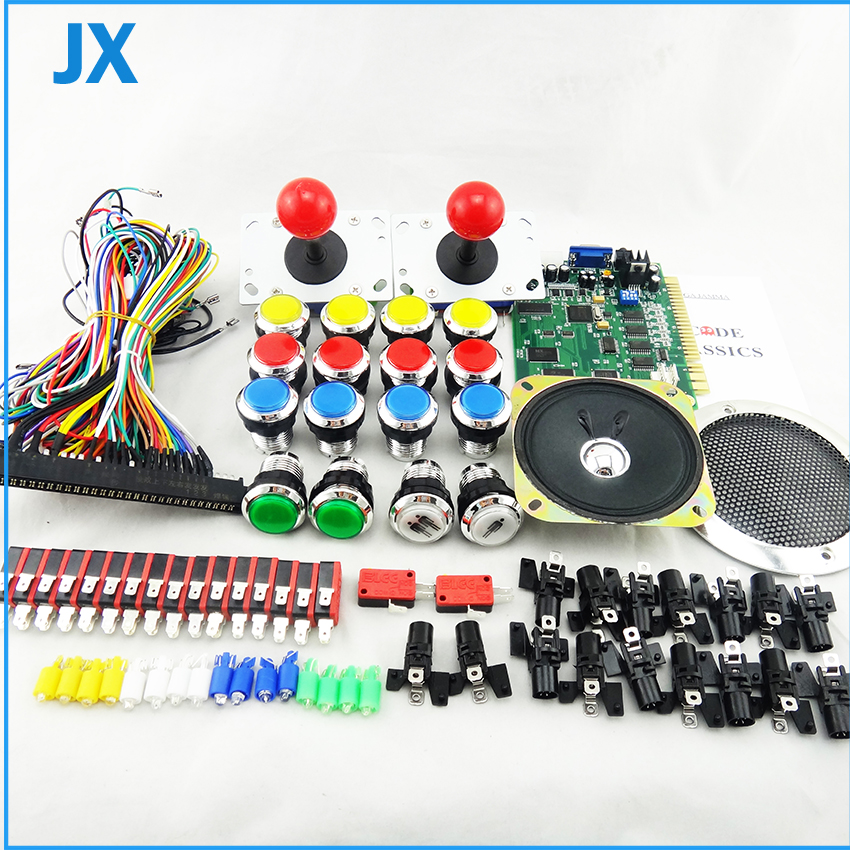 Arcade DIY Parts Kits Zero Delay LED USB Encoder Joystick LED Illuminated push buttons speaker and 60 in 1 classical game board<br><br>Aliexpress