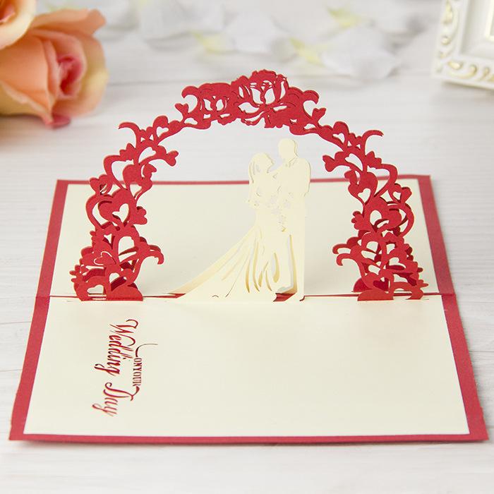5pcs/lot 3D Wedding Invitations Card Vintage Decoupage Greeting ...