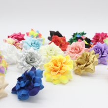 100 Pieces  1.77 Inches Artificial Silk Small Rose Flower Heads Home Garden Decor Party & Wedding Hair Clip Favors AFH0047(China (Mainland))